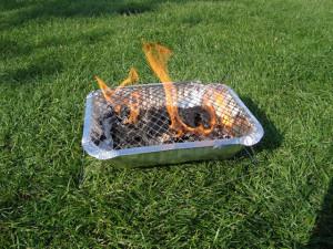 Einnota grill fyrir